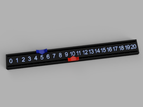 Easy Slide Dual Track Counter