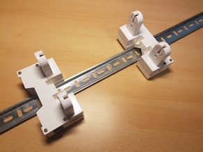 T8 LED Tube holder for testing using DIN rail or 20x20 profile