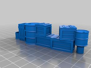 DungeonSticks  Barrels Crates Toolbox Garage