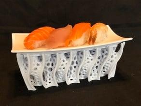 Rectangular Gyroid Sushi Serving Tray