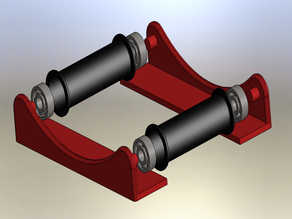 Filament coil holder. (Soporte para bobina de filamento)