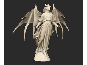 Winged Angelic Demon Statue