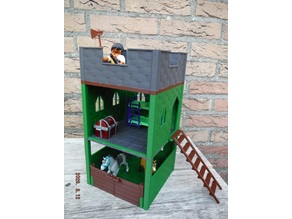 Modular playmobil sized guard tower