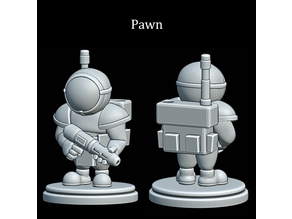 Astronaut Chess Pawns