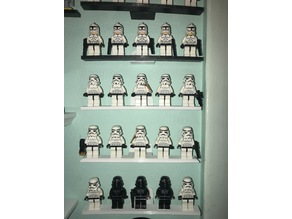 Lego minifig wall mount