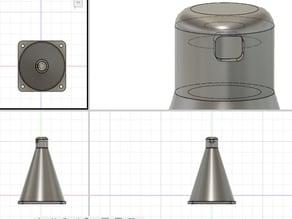 Waterproof ultrasonic sensor (JSN SR-04T) holder for water tank