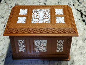 Antique Carved Wood Box Dual Extrusion (MMU) Remix
