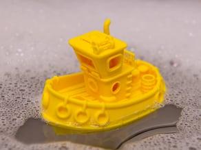 Little bathtub tug boat + hex nut weights