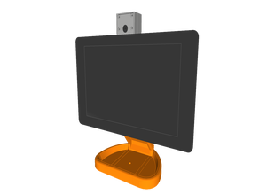 PiMac - Raspberry Pi 7 Inch Touch Screen Stand (with Camera)