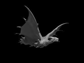 Copper Dragon Flying
