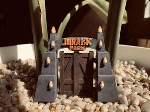Jurassic Park Gate [no assembly, no supports, shrinkable]