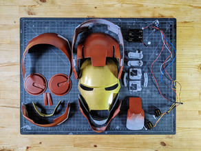 Iron Man Helmet, Articulated, Wearable