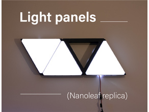 Light panels - nanoleaf replica - wall panel