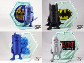 Backdrop for Wexagon - Hexagon Shelfs Vol 1 - Homelander, Batman, 3DPN, 3DMN
