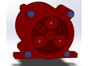 115:1 3 stage planetary gearbox