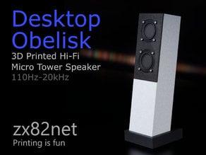 Desktop Obelisk Micro Tower Speaker
