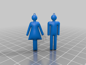 earrings toilet man and woman V4.0