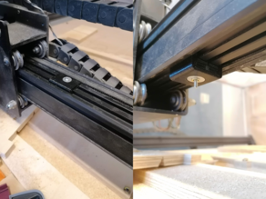 X-Carve X rail stiffener to reduce chatter