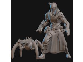 Artillerist Artificer with Eldritch Cannon Miniature