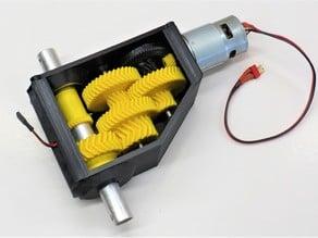 3D printable high torque servo/gearbox version 2