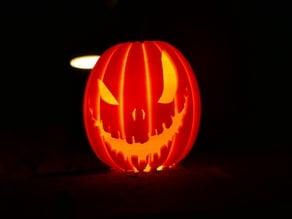 Halloween pumpkin lithophane