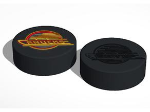 Vancouver Canucks 1990s NHL Hockey Puck Logo
