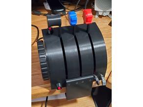 Scalable Throttle Quadrant with Trim Wheel for Flight Sim using Arduino