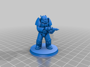 40mm base Enclave Soldier X02 Advanced Power Armor