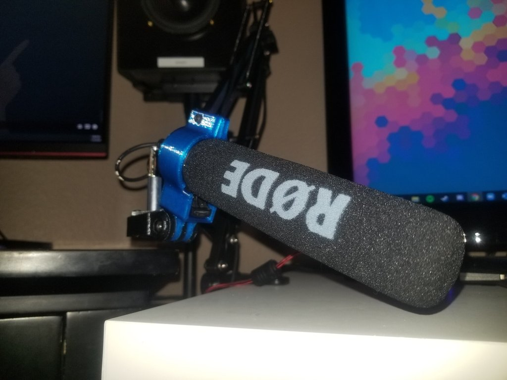 Rode VideoMicGo mount for broken/nonbroken mic, and adapter for mic stands