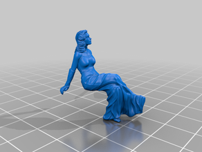 Elegan lady figurine