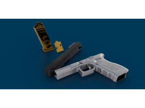 Glock 17 - 1:1 Model with functioning Slide and Magazine.
