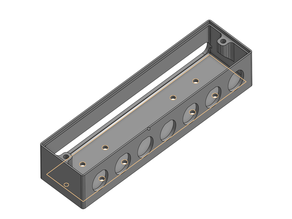 Gx16 7 hole Junction box with 40mm extrusion T nut hole mount