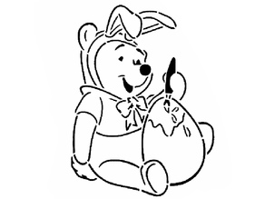 Winnie-the-Pooh stencil 2