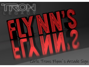Carlz TRON LED Flynn`s Arcade Sign