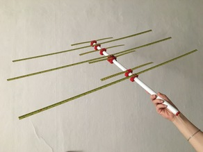 Dual band tape antenna yagi 3+4 145 / 435 MHz (2m / 70cm)