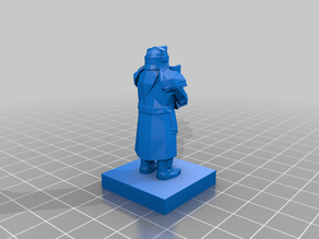 Dwarf Statue Terrain Piece