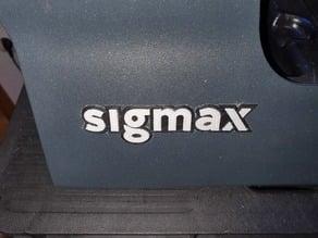 SIGMAX logo for replace broken vinyl logo of BCN3D SigmaX 3D printer. Simple and dual extruder versions.