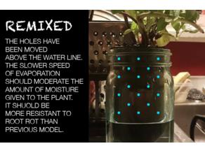 Mason Jar Self Watering Evaporation Plant Potter