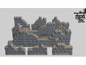 OpenForge 2.0 Separate Wall Dungeon Stone Ruined Primary Walls