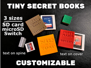 Customizable Tiny Secret Books