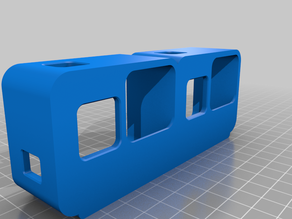 Twin GoPro Hero 5/6/7 tandem handcam cage case