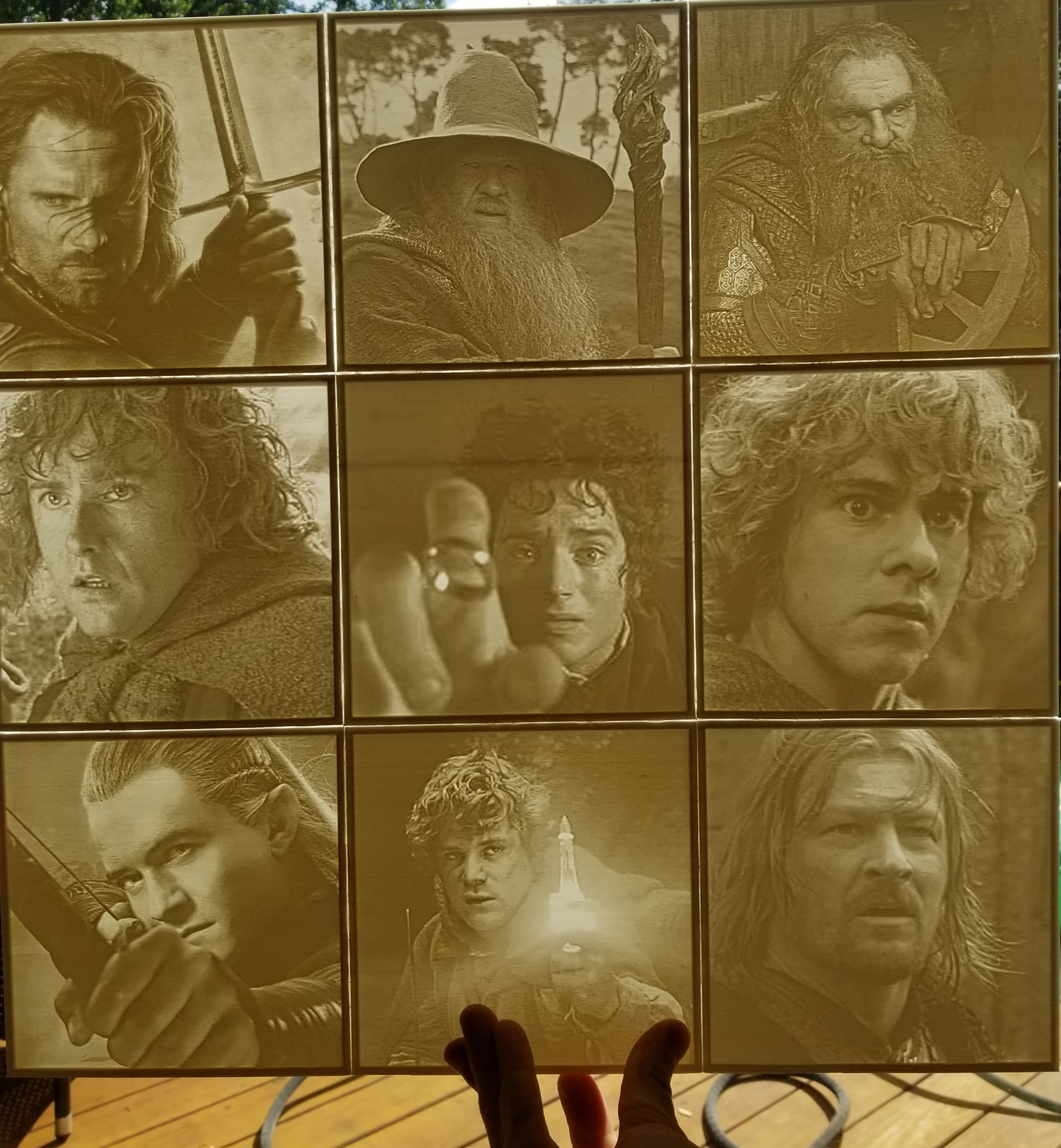 Lord of the Rings Fellowship Lithophanes