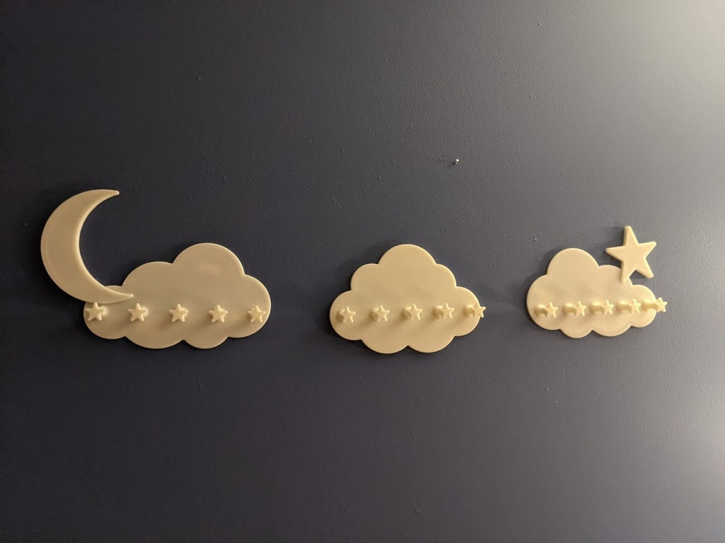 Cloud Moon Star Wall Hooks