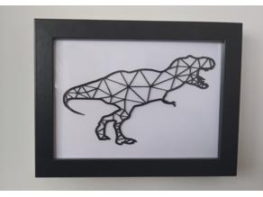 T-Rex Wall Art 2D | Dinosaur Wall Art