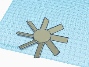 high intake fan blades