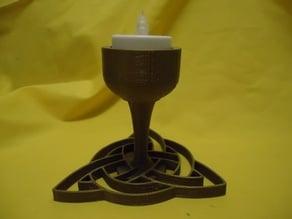 Celtic Trinity Tealight Holder - smaller
