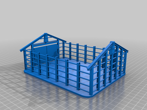 Partly constructed storage building for 28mm Sci-fi and modern era  wargamming