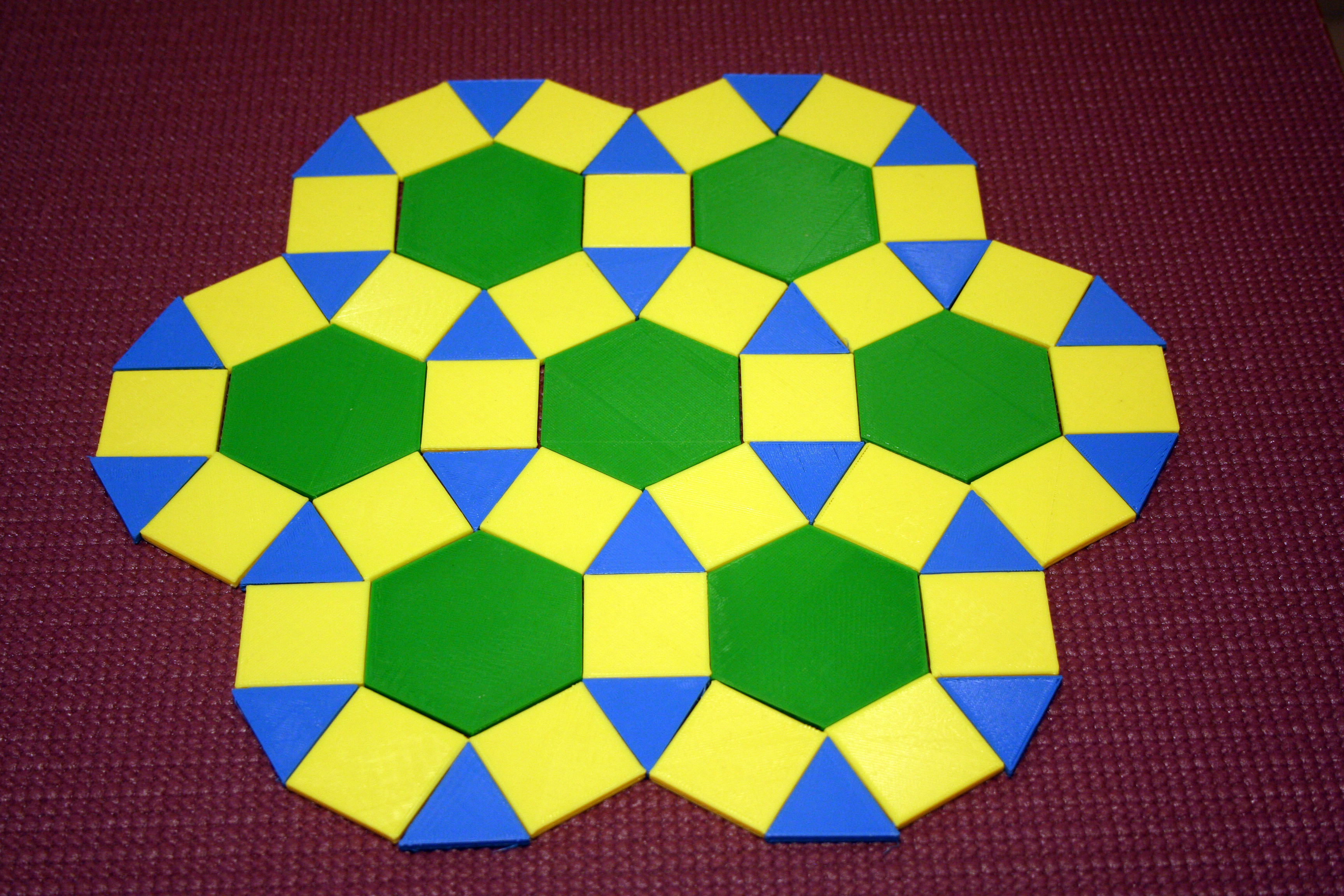 Use the polygons to build lovely tessellations, take a picture and print it