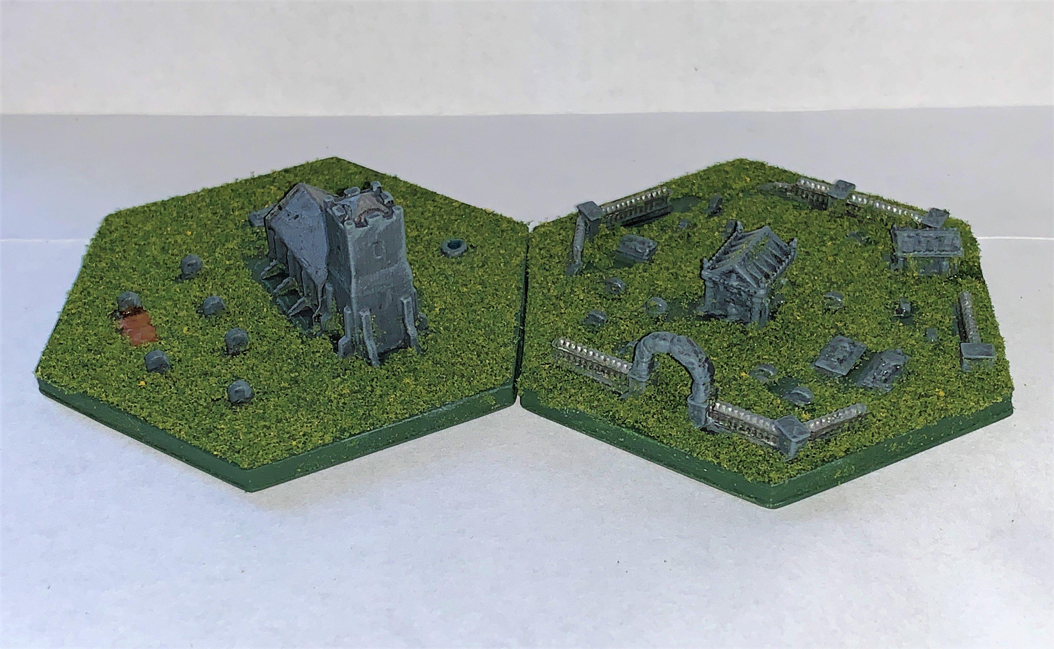 Wargaming Hex Tiles / Mighty Empires - Church / Graveyard