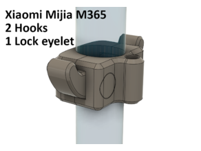 Xiaomi Mijia M365 Hook and lock eyelet (with source file)
